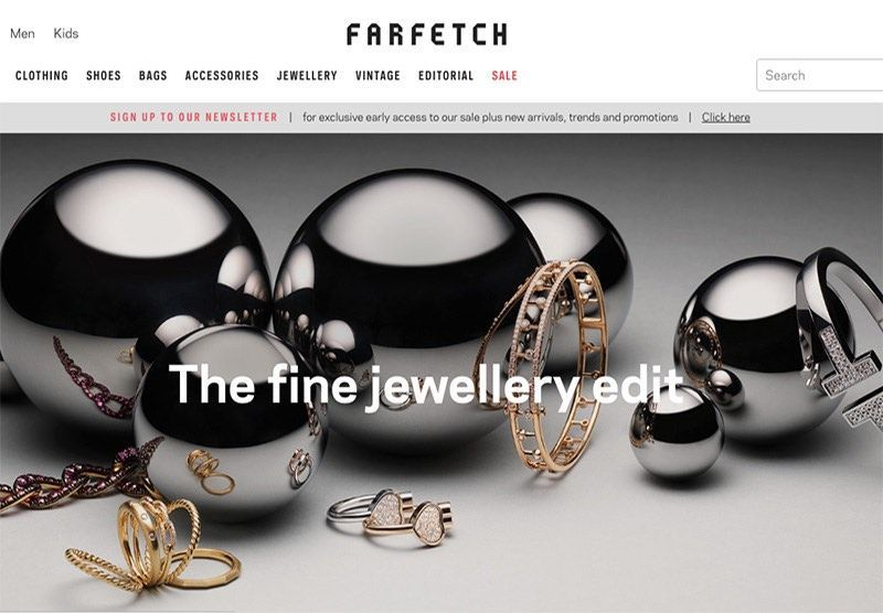 À son tour, Farfetch se concentre sur l'horlogerie et la joaillerie