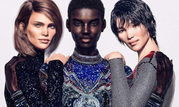 Pour sa nouvelle campagne, Balmain met en scène des mannequins virtuels