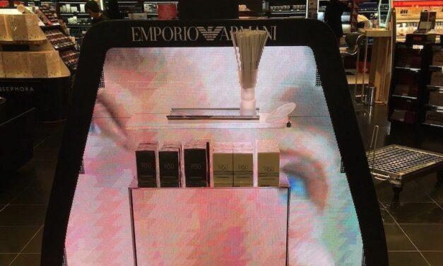 Une PLV innovante chez Sephora pour Emporio Armani et Givenchy