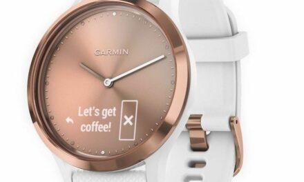 Garmin propose une montre connectée élégante .