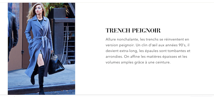 revealthing trench peignoir