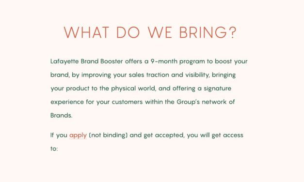 Brand Booster, le nouvel accélérateur des Galeries Lafayette