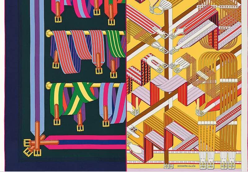 Hermès lance son premier carré de soie double face